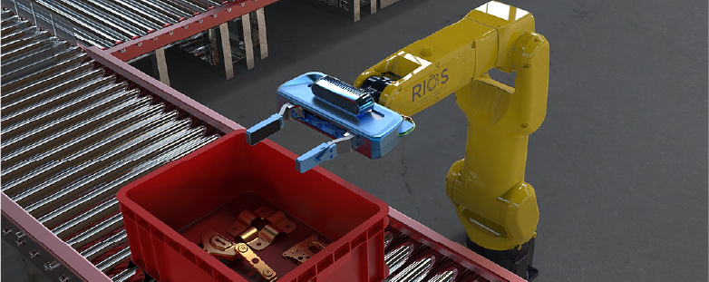 Rios packaging robot packing a box
